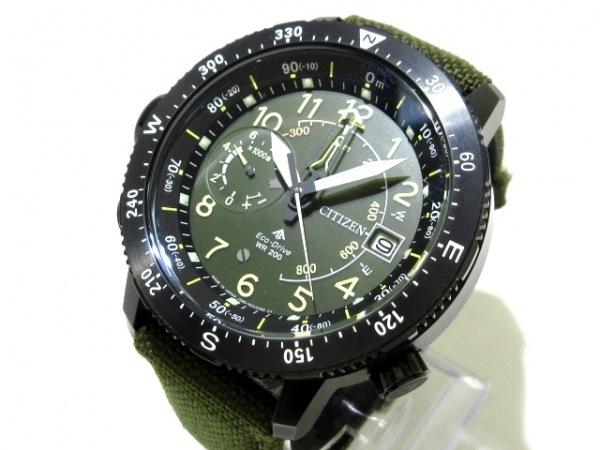 CITIZEN(シチズン) 腕時計美品  プロマスター J280-R008463 メンズ カーキ