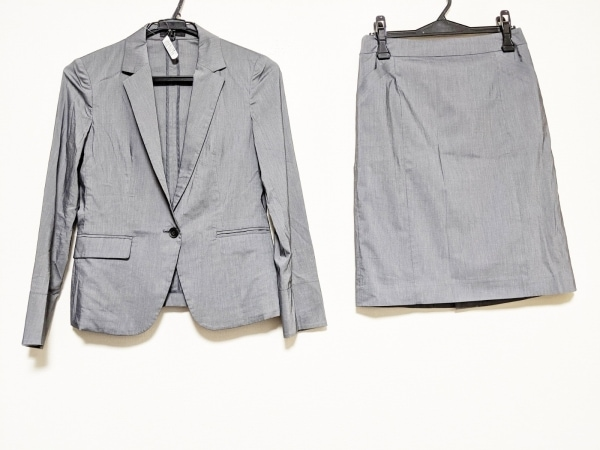ICB(アイシービー) スカートスーツ レディース美品  グレー ストレッチ