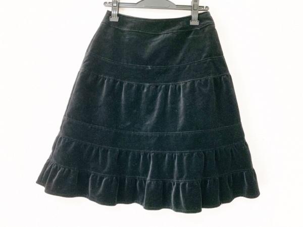 KEITA MARUYAMA(ケイタマルヤマ) スカート サイズ1 S レディース 黒 ベロア