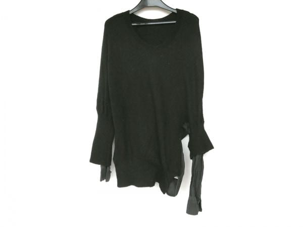 Y's(ワイズ) 長袖カットソー サイズ2 M レディース 黒×ダークグレー ニット