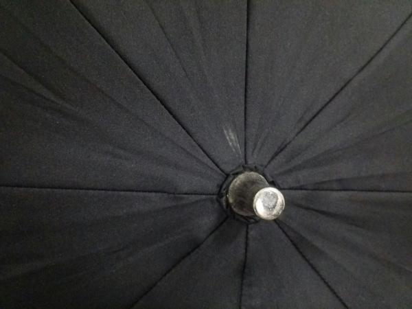 シャルルジョルダン 日傘美品  黒×ピンク×マルチ フラワー/刺繍 化学繊維