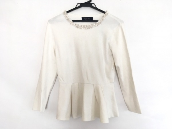 JUSGLITTY(ジャスグリッティー) 長袖セーター サイズ2 M レディース美品  アイボリー