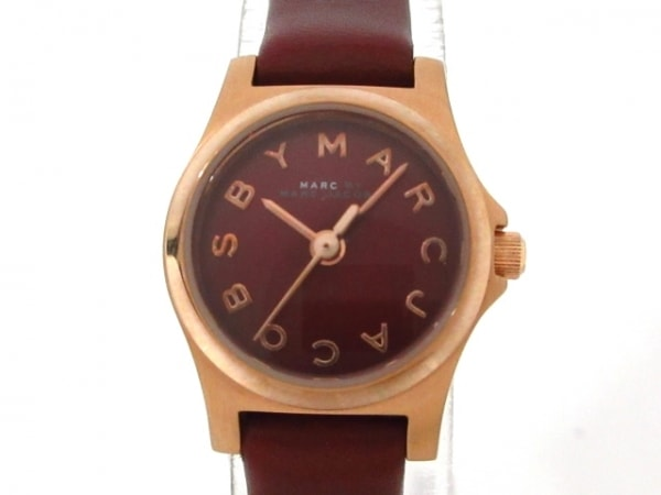 マークジェイコブス 腕時計 MBM1251 レディース 革ベルト ボルドー