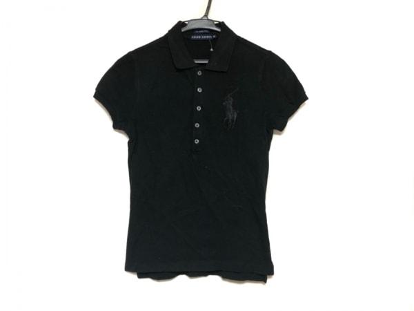RalphLauren(ラルフローレン) 半袖ポロシャツ サイズM レディース ビッグポニー 黒