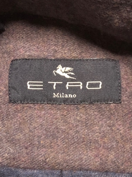 ETRO(エトロ) 長袖シャツ サイズM メンズ美品  ダークブラウン×ダークグレー 厚手