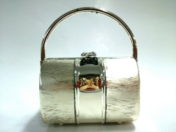 RODO(ロド) ハンドバッグ美品  シルバー×ゴールド 金属素材