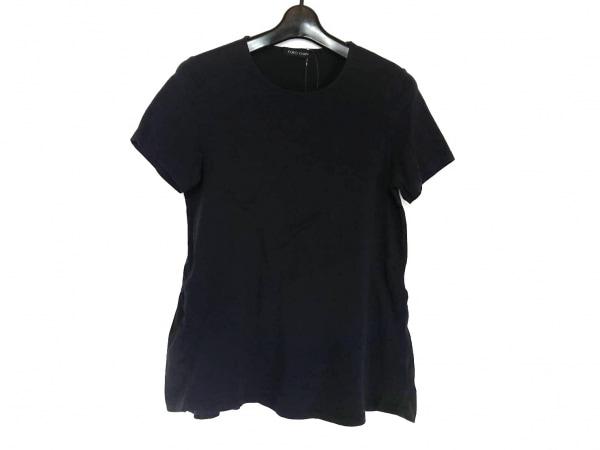 ヨーコ チャン 半袖カットソー サイズ38 M レディース美品  ダークネイビー×黒