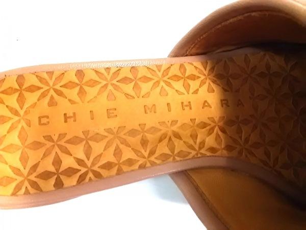CHIE MIHARA(チエミハラ) ミュール 35 1/2 レディース ライトブラウン フリル レザー