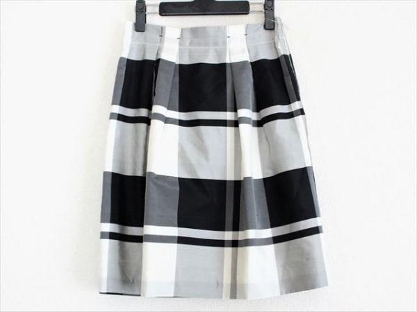 トゥモローランド スカート サイズ36 S レディース美品  白×黒×グレー チェック柄