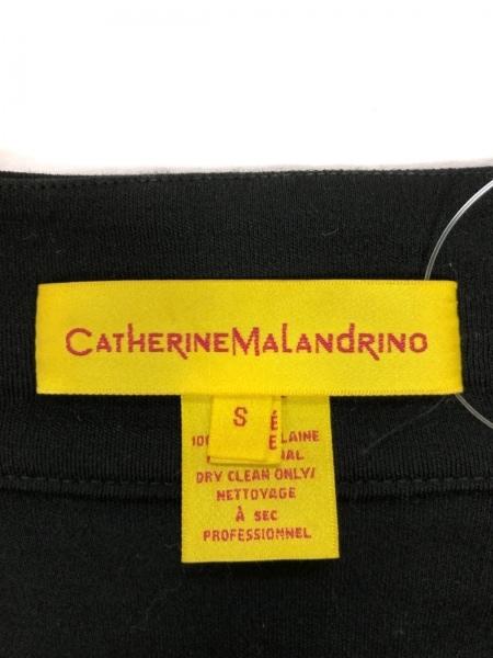 キャサリンマランドリーノ カーディガン サイズS レディース 黒 フリル