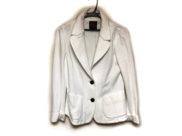 Filo di Seta(フィロディセタ) ジャケット サイズ40 M レディース美品  白