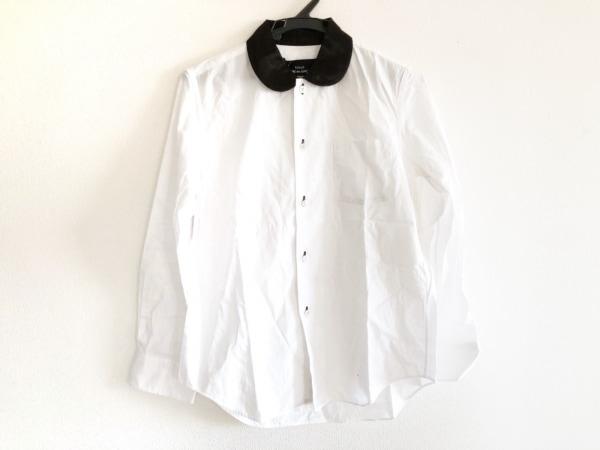 トリココムデギャルソン 長袖シャツブラウス サイズS レディース 白×黒