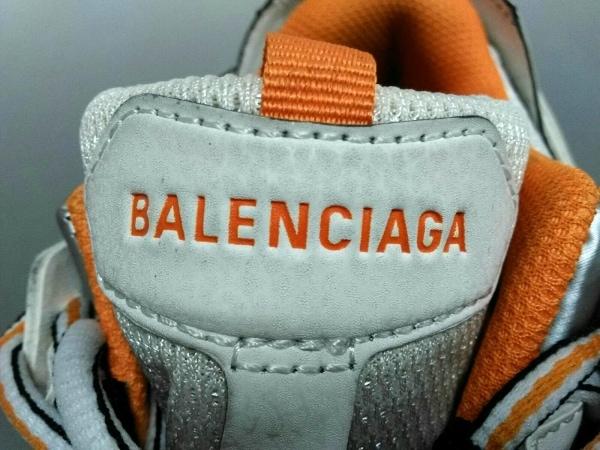 バレンシアガ スニーカー メンズ トラック トレーナー 542023 白×オレンジ×シルバー