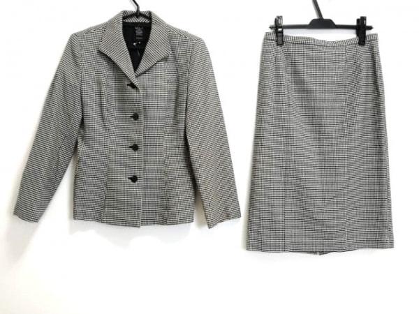 ダブリュービー スカートスーツ サイズ3 L レディース美品  黒×ベージュ 千鳥格子