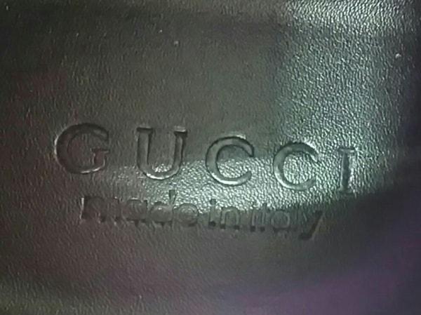 GUCCI(グッチ) スニーカー 43 メンズ シルバー×ネイビー×レッド ラメ/スタッズ