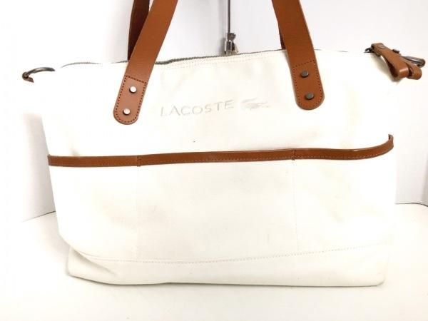 Lacoste(ラコステ) ショルダーバッグ 白×ブラウン キャンバス
