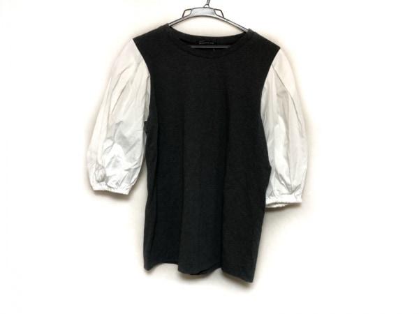 mizuiro  ind(ミズイロインド) 七分袖カットソー レディース美品  グレー×白