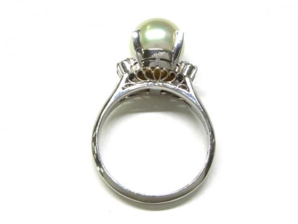 ノーブランド リング Pt900×パール×ダイヤモンド ホワイト×クリア