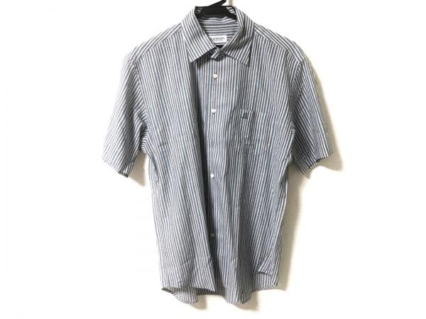 ランバンコレクション 半袖シャツ サイズM メンズ美品  ストライプ