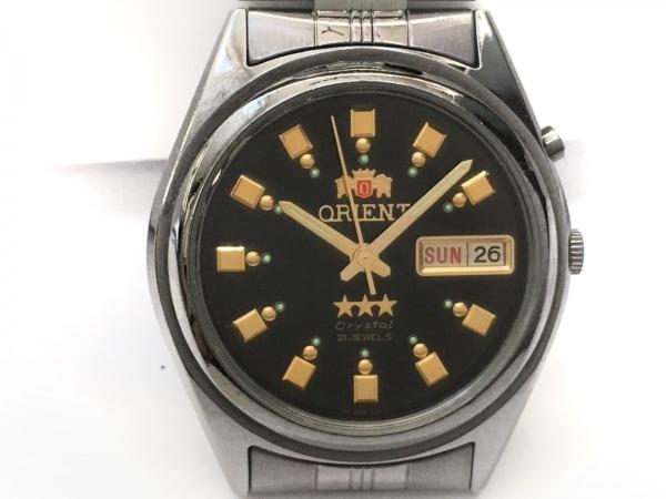 ORIENT(オリエント) 腕時計 スリースター EM6Q-DO CA メンズ 黒×ゴールド