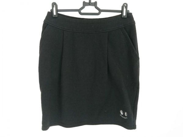 ヒステリックグラマー スカート サイズS レディース美品  黒×白 刺繍