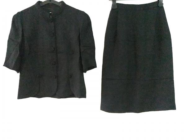 JUN ASHIDA(ジュンアシダ) スカートスーツ サイズ7 S レディース 黒