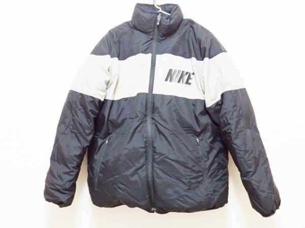 NIKE(ナイキ) ダウンジャケット サイズL メンズ 黒×グレー 冬物