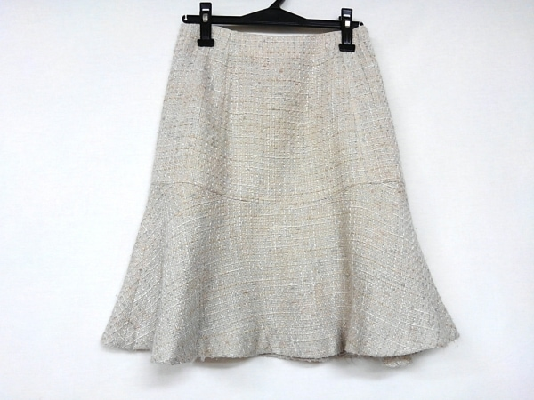 ナラカミーチェ スカート サイズ1 S レディース ベージュ×ライトグレー×アイボリー