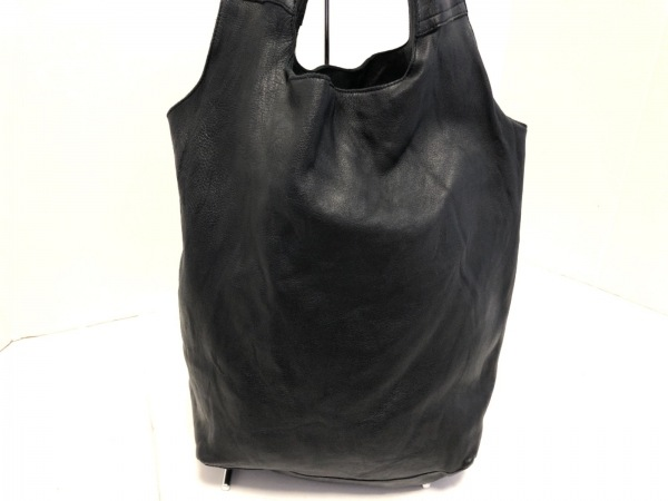 SEASIDE FREERIDE(シーサイドフリーライド) トートバッグ美品  黒 レザー