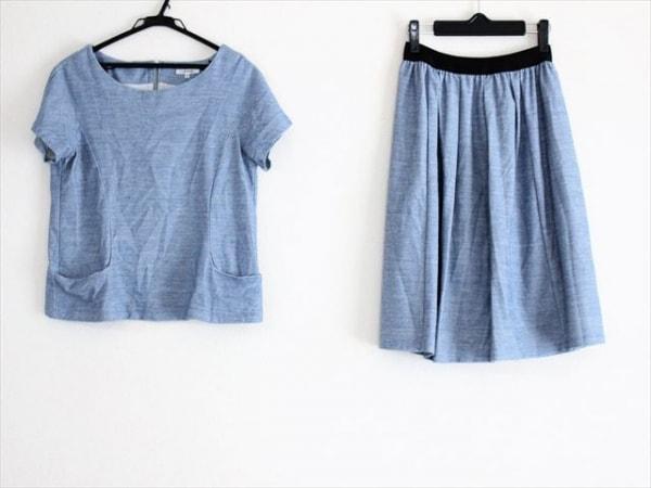 ルーニィ スカートセットアップ サイズ38 M レディース美品  ライトブルー×白×黒