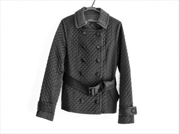 LOUNIE(ルーニィ) コート サイズ40 M レディース 黒 冬物/キルティング