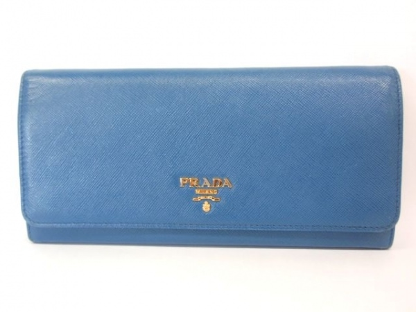 PRADA(プラダ) 財布 - ブルー レザー