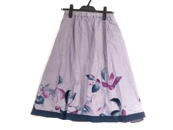 パラスパレス スカート サイズ0 XS レディース ライトネイビー×パープル×マルチ