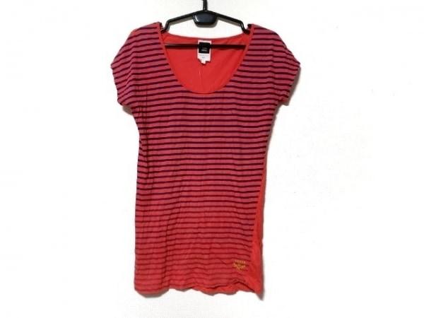 ジースターロゥ ノースリーブTシャツ サイズS レディース新品同様  レッド