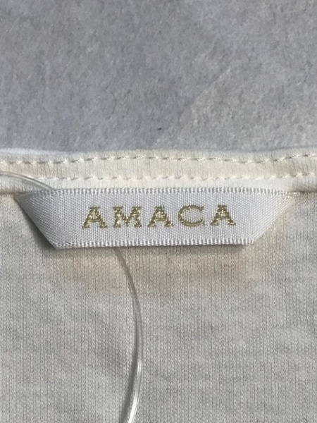 AMACA(アマカ) 半袖カットソー サイズ38 M レディース 白×アイボリー レース