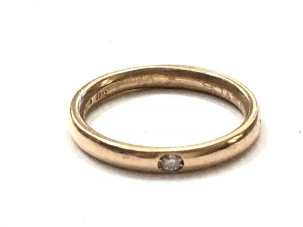 ポメラート リング美品  ルッチョレ K18YG×ダイヤモンド 1Pダイヤ/約0.03Ct