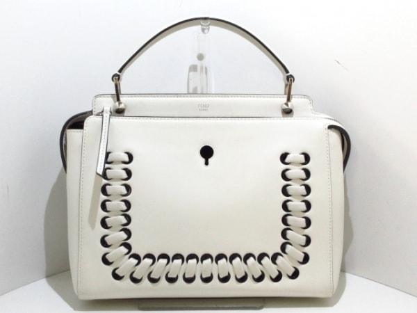 FENDI(フェンディ) ハンドバッグ美品  ドットコム 8BN293 白 レザー