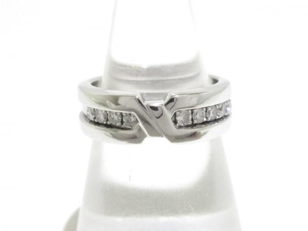 ヴァンドーム青山 リング美品  K18WG×ダイヤモンド 総重量7.9g/ダイヤ0.29カラット