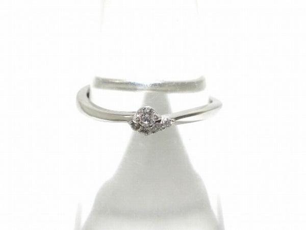 スタージュエリー リング美品  K18WG×ダイヤモンド 総重量1.7g/0.05カラット