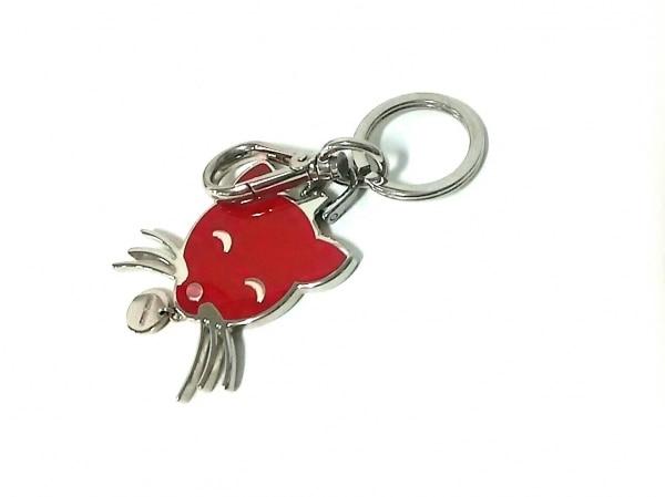 miumiu(ミュウミュウ) キーホルダー(チャーム) レッド×シルバー ネコ 金属素材