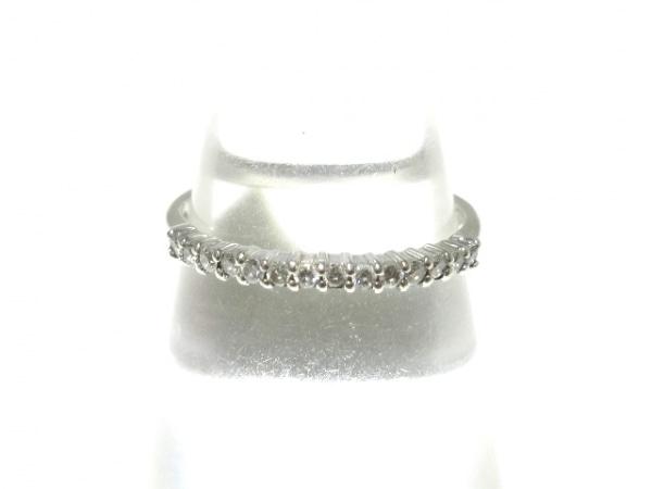 ノーブランド リング美品  Pt900×ダイヤモンド クリア 総重量:2.2g/0.17刻印
