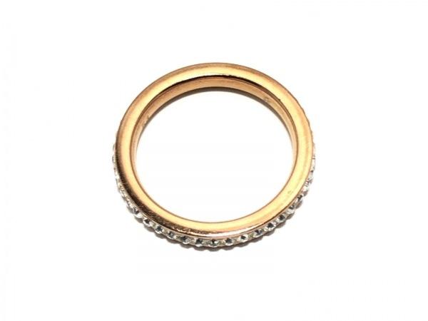 フォリフォリ リング 金属素材×ラインストーン ゴールド×シルバー サイズ:54