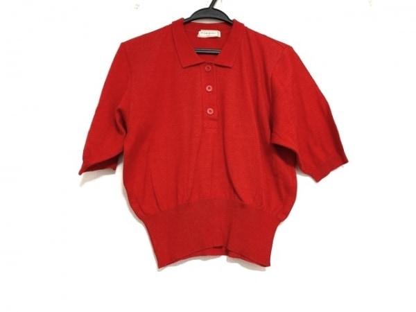 YvesSaintLaurent(イヴサンローラン) 半袖ポロシャツ レディース美品  レッド
