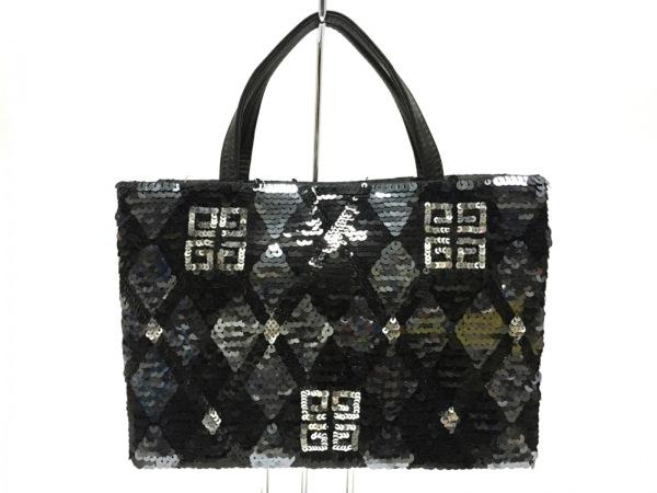 GIVENCHY(ジバンシー) ハンドバッグ - 黒 スパンコール