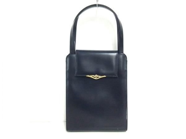 Cartier(カルティエ) ハンドバッグ サファイアライン 黒 レザー
