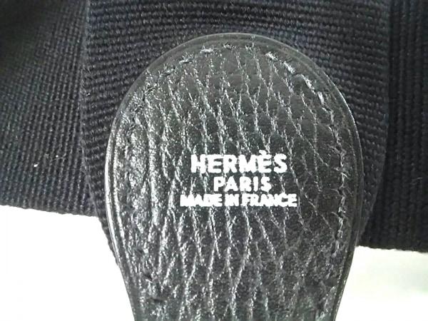 HERMES(エルメス) ショルダーストラップ美品  黒 エブリン用ストラップ/シルバー金具