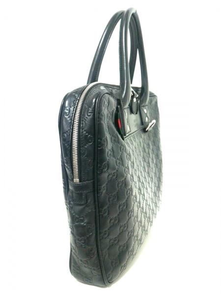 GUCCI(グッチ) ビジネスバッグ美品  シマライン 322079 黒 レザー