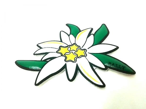 BALLY(バリー) 小物美品  白×グリーン×イエロー シール レザー