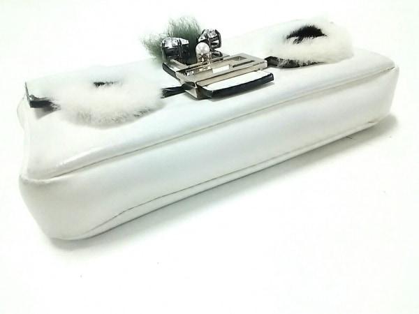 FENDI(フェンディ) ハンドバッグ モンスターマイクロバケット 8M0354 白×黒×カーキ