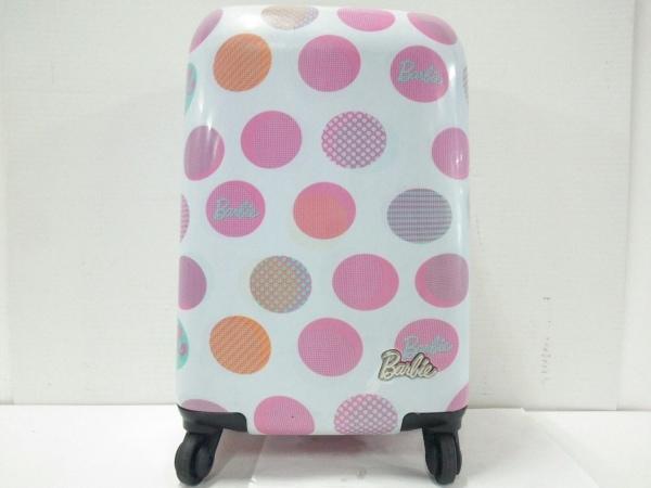 Barbie(バービー) キャリーバッグ ライトグレー×ピンク×マルチ プラスチック